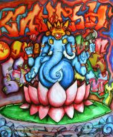 Ganesh in color by RILLAH