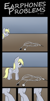 Comic - Earphones Problems by Wave-Realm