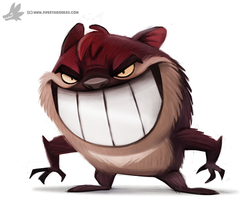 Daily Painting 881. Taz by Cryptid-Creations