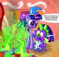 Spike and his snoring problem by seriousdog