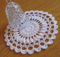 Textured Flower Petal Doily in White, No. 83 by doilydeas