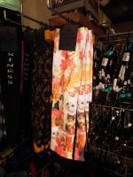 Cats and Flowers Socks at Hot Topic by KrazyKari