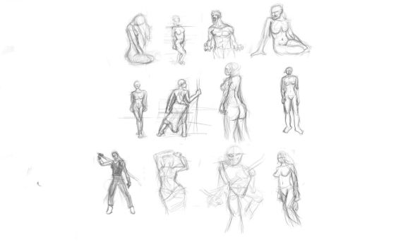 figure drawing excercise No2 by F3ras