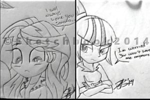 I will Always Love You...Sonata (Doodle Sketch) by xxXSketchBookXxx