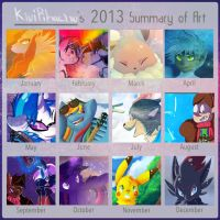 2013 Art Summary by KiwiPikachu