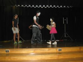 School Show 2: Passing the ball back and forth by RockO-the-clown