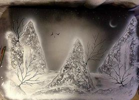 cold nature | Spray Paint Art by Luca Easton by Luca-Easton