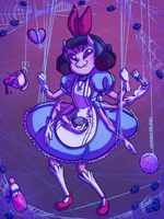 Muffet in Underland by wombodrawnbo