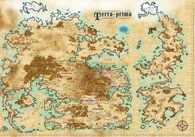 Fantasy World Map: Terra Prima by ronaldbkg