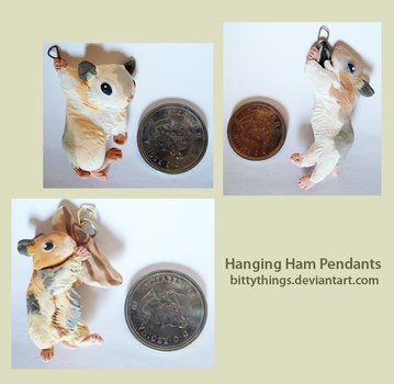 Hanging Ham Pendants - Selection Limited by Bittythings