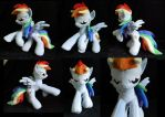 Rearing Dashie plush by SarityCreations