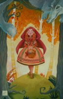 Art School 3 - Le Petit Chaperon Rouge by Djoulena