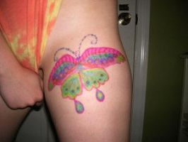 Butterfly: Upper Thigh by DesignTheSkinYourIn