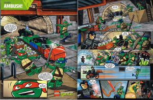 Lego Club TMNT Comic pages 1 and 2 by DanVeesenmeyer