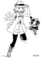 Serena and Pancham by Rohanite