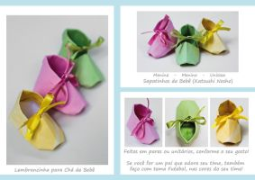 Baby Shoes Origami by VeevaRude