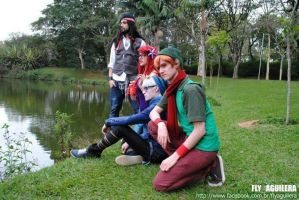 The Hipsters =) Ariel, Frost, Sparrow and Pan by BabiSparrow
