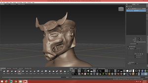 Paladin bust Model by oozy5000