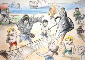 Summer with GR, FMA, ALAB by rice-claire