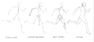 Running Woman Figure Tutorial by crazy-fae