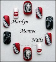 Marilyn Monroe Nails by Ninails