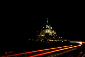 Mont St Michel with red by Rounette