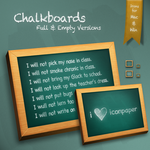 Chalkboard Trash by hotiron