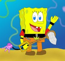KH Style Spongebob by Dragon-Wing-Z