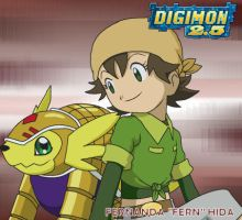 Best Partner: Fernanda and Armadillomon by CherrygirlUK19