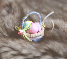 Miniature Striped Easter Eggs by WaterGleam
