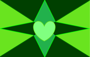 Green Hearts and Stars by GothicRockerGirl