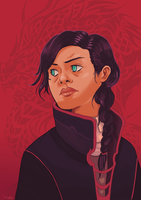 The Red Dragon Girl by land-walker