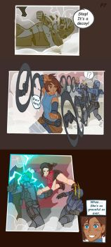 Korra and Asami Adventure p7 by Artsypencil