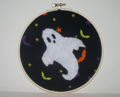 Halloween Ghost Embroidery by kiddomerriweather