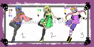 Pastel Goth adoptables by Rainbow-Marbles