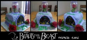 Beauty and the Beast Cake by Perry-the-Platypus