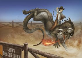 Lena's Dragon Rodeo by GaiasAngel