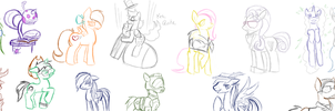 I drew a bunch of Ponies. by NeonNoble