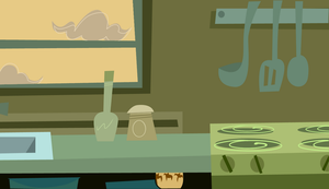 Kitchen Background by ma-ri-no