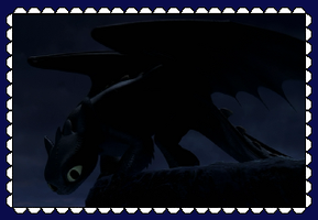 HTTYD Night Fury/Toothless Fan Stamp by MorkelebTheDragon