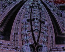 Detail of the church ceiling by GLO-HE