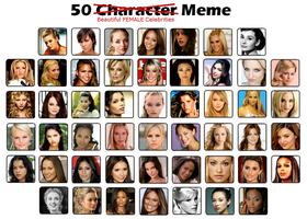 50 Beautiful Female Celebrities by FalseDisposition
