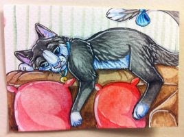 Iron Artist Challenge ACEO 25 by nightspiritwing