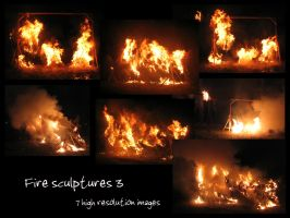 Fire sculptures 3 by Mithgariel-stock