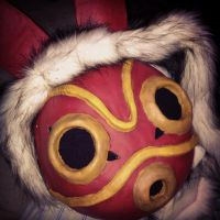Princess Mononoke Cosplay Mask and Hood by Shlii