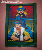 Megaman exe Old drawing by Rolly-Chan