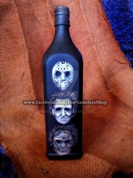 Horror Icons bottle by MissNicka