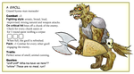 Gnoll card by Katemare