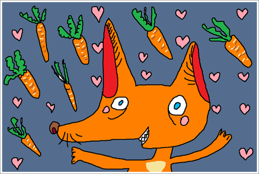 little foxes and carrot rain by PandaMur