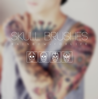 Skull brushes by raibowforlife